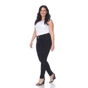 2d509e1af0 White Mark Jeans - Plus Size Super Stretch Denim Black PS528-A